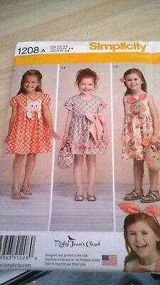 Simplicity brand new sewing pattern  3 to 8 years