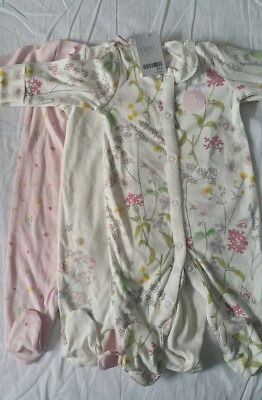 Next girls floral sleepsuits 3-6