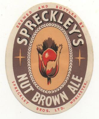 OLD BEER LABEL / S  - UK -  SPRECKLEY - (F)  - 79mm TALL