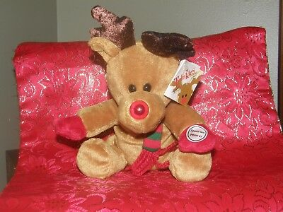1999 TWINKLES  Reindeer Light Up Nose  Christmas Sears Charity Bean Plush / Tags