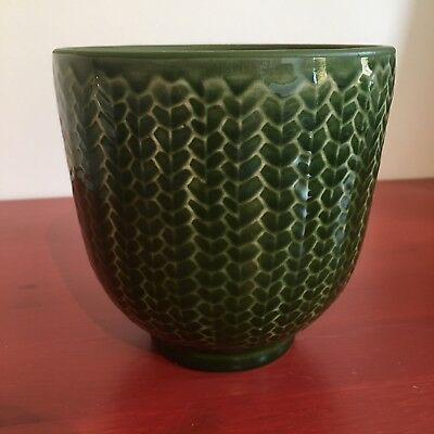 Decorative Ceramic Green Jar / Plant Pot / Vase