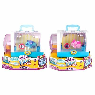 New Little Live Pets Lil' Mouse House w/ Snippy Or Blossom Pink Or Blue Official
