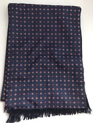 vintage retro mod scooter Navy paisley design Wool backed scarf By Tootal