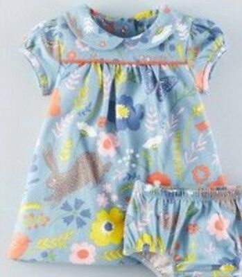 NEW IN LIMITED STOCK Baby Boden Bluebell Field Friends Dresses 0-3 Months- 4Yrs