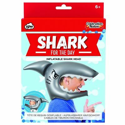 NPW Shark For the Day Inflatable Head Pool Fun Fancy Dress