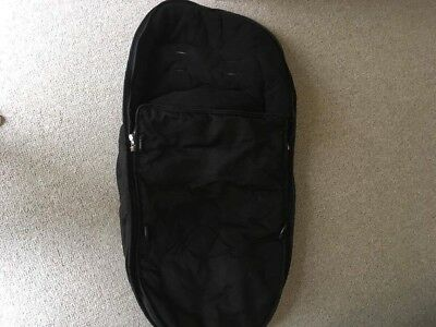 Black iCandy peach 3 footmuff/cosytoes in great condition.