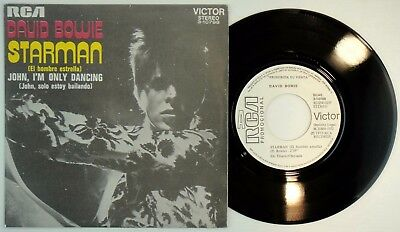 DAVID BOWIE – Starman • 45 Spain PROMO  – MINT *  El Hombre Estrella • RCA W/LAB