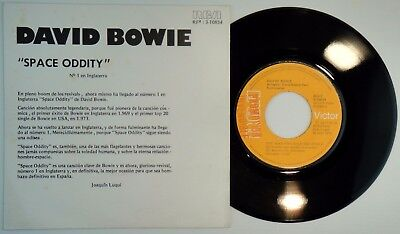 DAVID BOWIE – SPACE ODDITY • 45 Spain PROMO  – MINT * THE MAN WHO.1973 UNIQ. COV