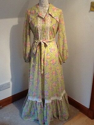 Vintage Berkertex 1970s Maxi/Evening Dress Size 12- 14