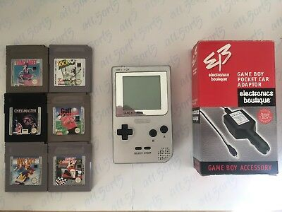 Nintendo Gameboy Pocket Bundle - Silver #3 - UK TRACKED POSTAGE