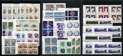 Canada Commemorative Imprint Blocks etc from 1986, 1987. MNH