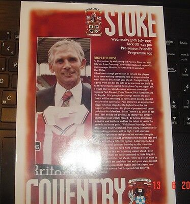Stoke City Coventry City Friendly 1997 Last Match At Victoria Ground