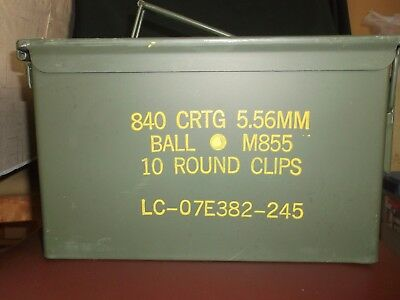 Ammo Can 840 crtg-5.56mm-10 round clips