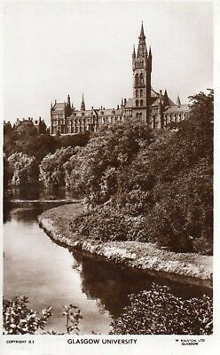 Old Ralston Postcard 1950 - Glasgow University