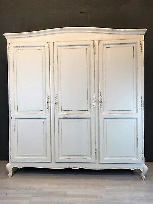 Vintage French 3 door Wardrobe / Armoire / Painted furniture (BR484)
