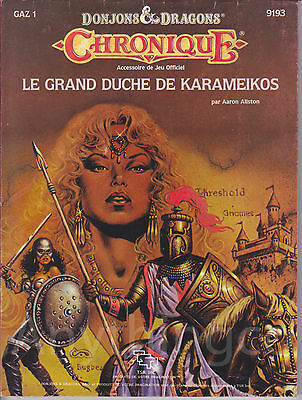 D&D - 9193 - GAZ1- Chronique - Le Grand Duche de Karameikos