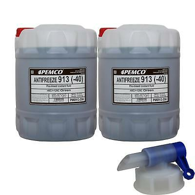 2X 20 L Pemco Antifreeze Anti-Freeze 913 40) Green + DRAIN COCK
