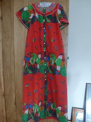 1960's/70's housecoat, marks and spencers, polycotton,