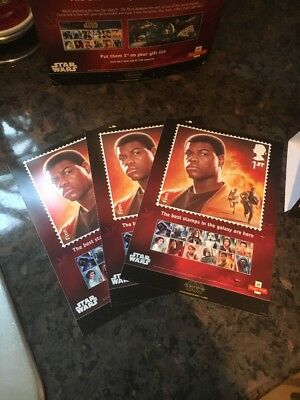 The Force Awakens Star Wars Stamp Advert Stickers