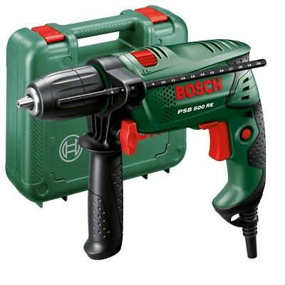 BOSCH 500W PSB 500 RE Compact Mains Hammer Impact Drill & Storage Case 240v BNew