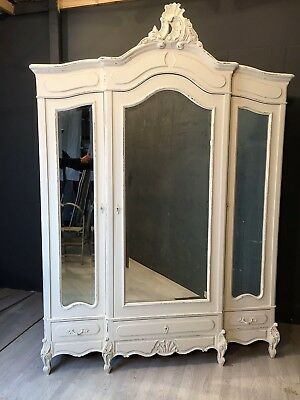 Antique Louis XV Armoire / Wardrobe / Painted furniture (BR486)