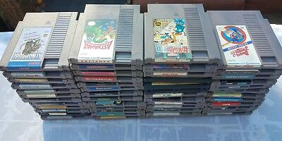 Huge Lot Of 50 Different Nintendo Nes Games All Working And Ready To Play