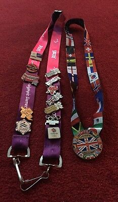 London 2012 Olympic Lanyards And Pins