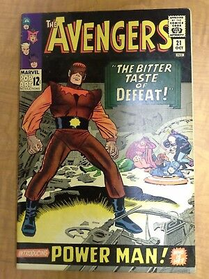 Avengers #21, 1st Appearance of Power Man, Silver Age, Free Shipping