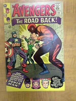 Avengers #22, Captain America leaves, Silver Age, Key Issue, Free Shipping