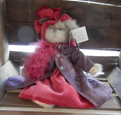 13 Inch Bearington Collection Queen Fedora With Red Hat And Purple Coat