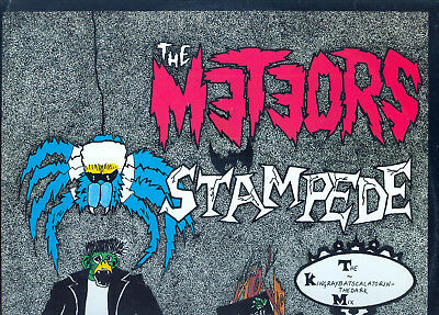 "THE METEORS - Stampede/Fire Fire/Red Riding Hood - Mad Pig 12"" -1985-PSYCHOBILLY"