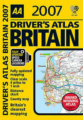 """VERY GOOD"" AA Driver's Atlas Britain 2007 (AA Road Atlas), , Book"