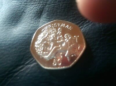 isle of man 1999 christmas 50p coin family round christmas tree