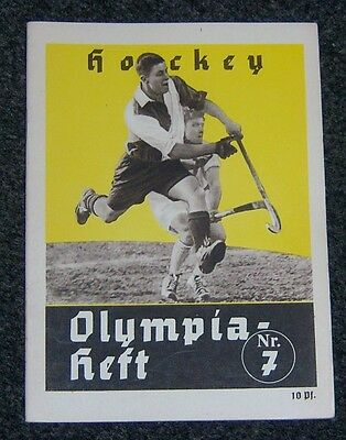 OLYMPICS 1936  Booklet  Nr.7. - Hockey.
