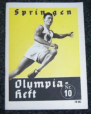 OLYMPICS 1936  Booklet No.10. -  Jumping.