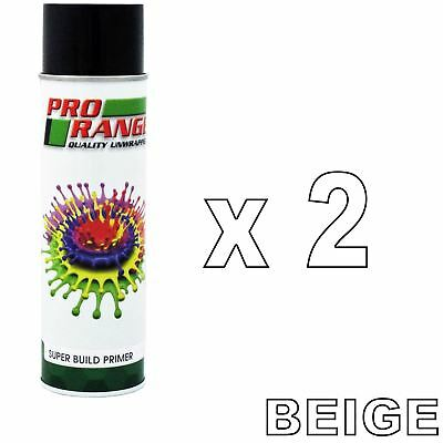 Pro Range 1K Ready For Use BEIGE High Build Paint Primer 500ml 2 Cans