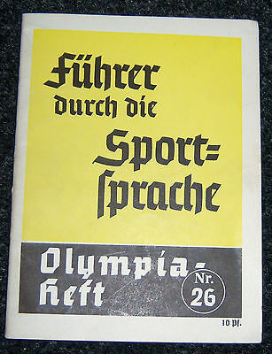 "OLYMPICS 1936  Booklet No.26. -  ""Sports Talk""."
