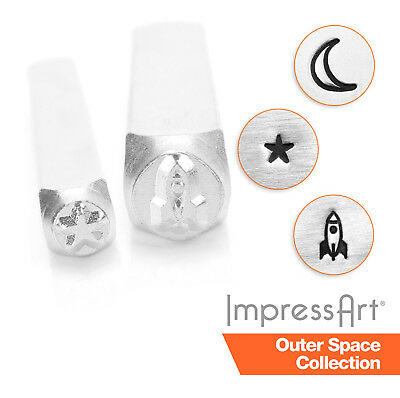 ImpressArt Space and Beyond Metal Stamping, Metal Stamps, 3mm, 6mm Size