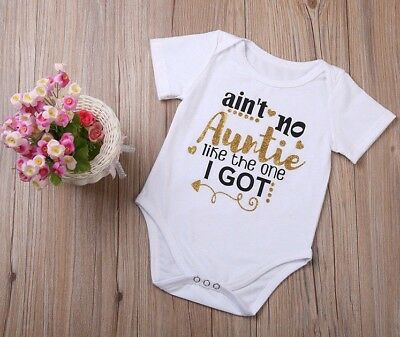 Ain't No Auntie Like The One I Got Funny Cute Baby Romper New Aunt Niece Nephew