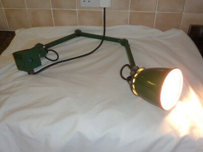 Vintage Anglepoise EDL Machinist Work Light