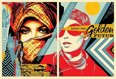 GOLDEN FUTURE FOR SOME - FAIREY OBEY - Limited Ed. of 450 - SOLD OUT - Preorder