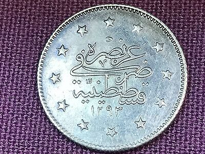 T2: World Coin Turkey: 2 Kurush 1293/29 1903
