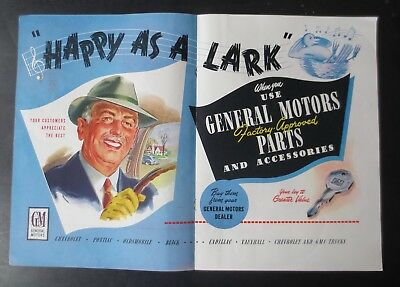 "1950 General Motors ""Happy as a Lark"" Magazine Ad Can."