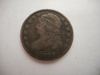 1829 Us Capped Bust Dime 10 Cent Silver Coin