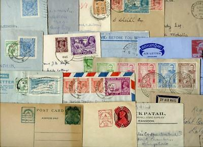 Burma Mix of Covers, Stationery mostly Used x 16 Pieces. Fronts and Backs Shown