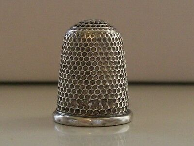 Nice Large Charles Horner Silver Thimble Hallmarked Chester 1902