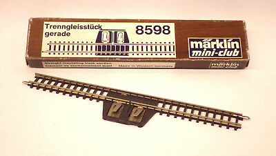 ▀▄ Märklin z mini-club miniclub rail de sectionnement séparation 8598▀▄