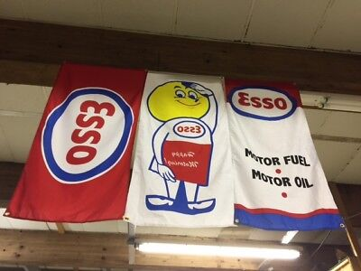 Esso Fules Display Flags ~ station pump banner gas oil garage sbc V8 race oil