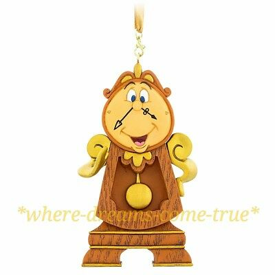 Disney Parks Cogsworth Figural Ornament - Beauty and the Beast (NEW)