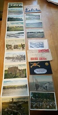 PA National Guard MT Gretna Post Cards Shooting Range 28th Large Lot